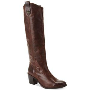 Frye Jackie brown leather boots